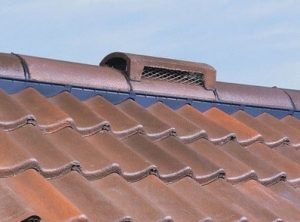 Photo of roof ridge air vents